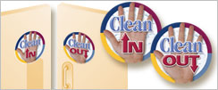Clean IN and Clean Out Signs